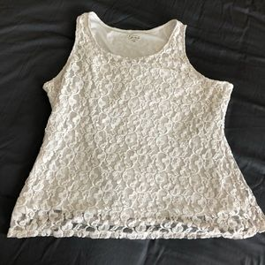 White Lace SIMPLY EMMA Tank